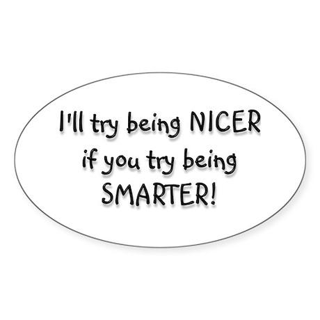SMARTER Oval Sticker