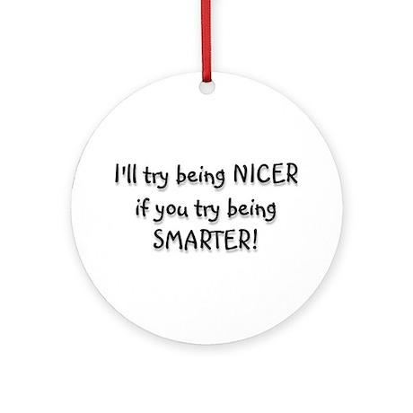 SMARTER Ornament (Round)