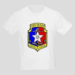 USS Texas (CGN 39) Kids Light T-Shirt