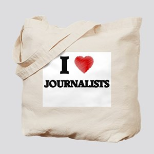 I love Journalists (Heart made from words Tote Bag