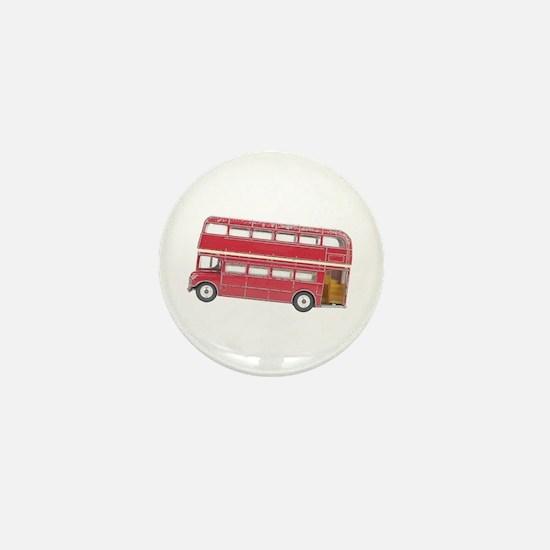 Anglophile Vintage Bus Mini Button