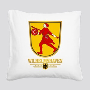 Wilhelmshaven Square Canvas Pillow