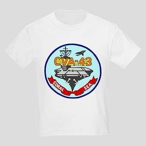 USS Coral Sea (CVA 43) Kids Light T-Shirt
