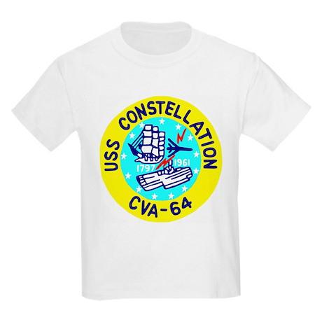 USS Constellation (CVA 64) Kids Light T-Shirt