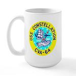 USS Constellation (CVA 64) Large Mug