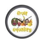 Fruit Equality Wall Clock