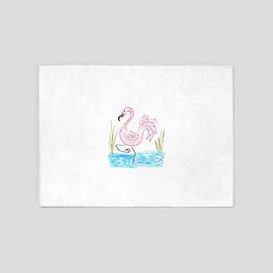 EelKat's Pink Flamingo #13 5'x7'Area Rug
