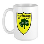 USS O'Bannon (DD 450) Large Mug
