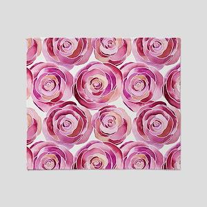 ROSES IN PINK Throw Blanket