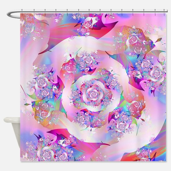Cool Fractal vicky Shower Curtain
