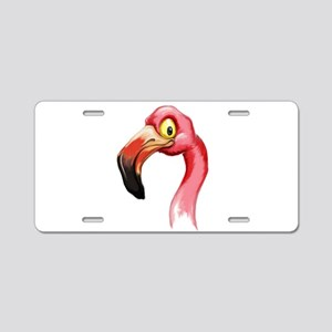 Flamingo Aluminum License Plate