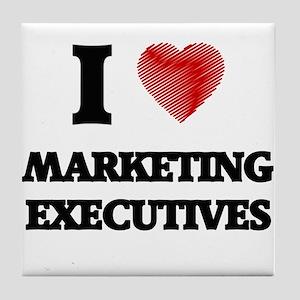 I love Marketing Executives (Heart ma Tile Coaster