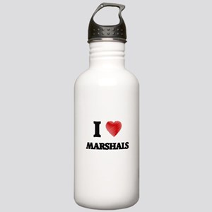 I love Marshals (Heart Stainless Water Bottle 1.0L