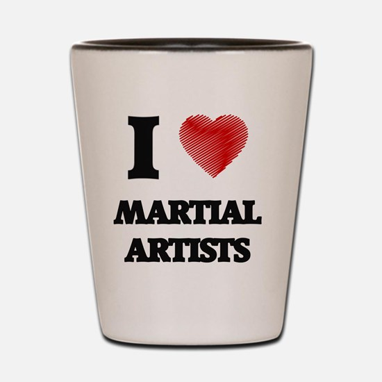 I love Martial Artists (Heart made from Shot Glass