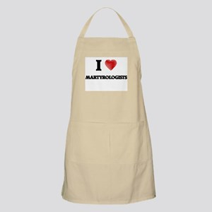 I love Martyrologists (Heart made from words Apron