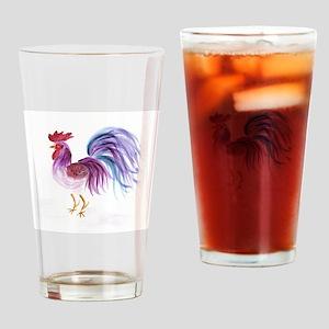 EelKat's Purple Pastel Rooster Drinking Glass