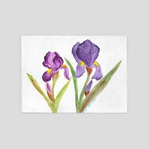 EelKat's Purple Iris 5'x7'Area Rug