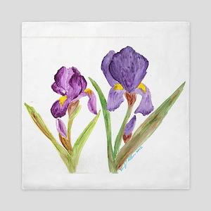 EelKat's Purple Iris Queen Duvet