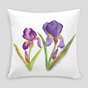 EelKat's Purple Iris Everyday Pillow