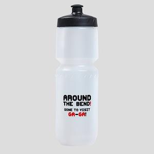 AROUND THE BEND - GONE TO VISIT GA~G Sports Bottle