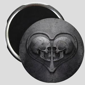 Gothic Skull Heart Magnet