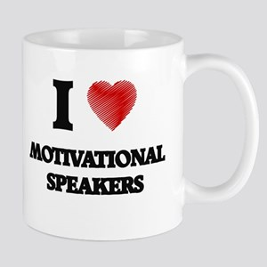 I love Motivational Speakers (Heart made from Mugs