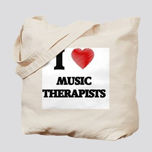 I love Music Therapists (Heart made from Tote Bag