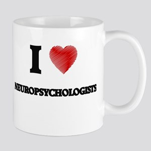 I love Neuropsychologists (Heart made from wo Mugs