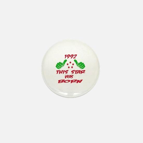 1992 This star was born Mini Button