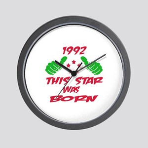 1992 This star was born Wall Clock