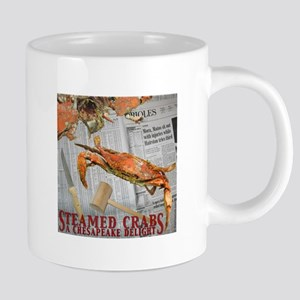 Large Blue Crab Mugs