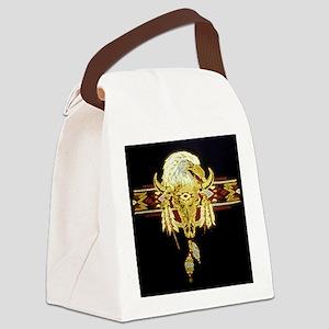 Golden Eagle Buffalo Skull Canvas Lunch Bag