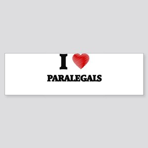 I love Paralegals (Heart made from Bumper Sticker