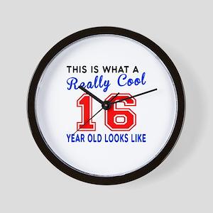 Really Cool 16 Birthday Designs Wall Clock