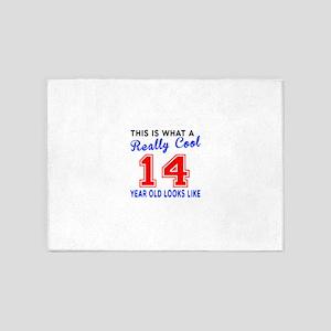 Really Cool 14 Birthday Designs 5'x7'Area Rug