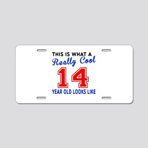 Really Cool 14 Birthday Des Aluminum License Plate