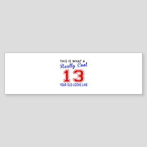 Really Cool 13 Birthday Designs Sticker (Bumper)