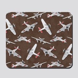 Vintage WWII Aircraft Art Mousepad