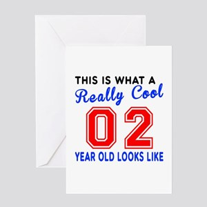 Really Cool 02 Birthday Designs Greeting Card