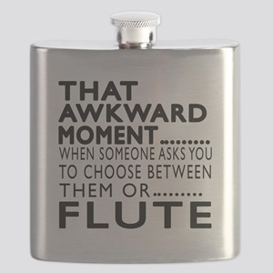 Flute Awkward Moment Designs Flask