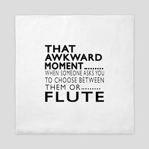 Flute Awkward Moment Designs Queen Duvet