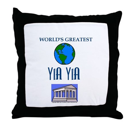 World's Greatest Yia Yia Pillow