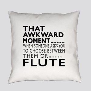 Flute Awkward Moment Designs Everyday Pillow