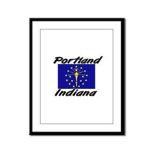 Portland Indiana Framed Panel Print