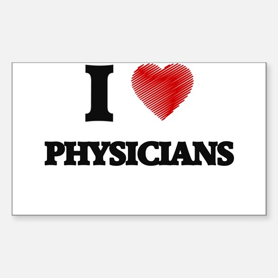 I love Physicians (Heart made from words) Decal