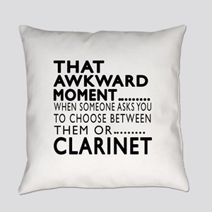 Clarinet Awkward Moment Designs Everyday Pillow
