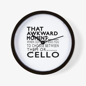 Cello Awkward Moment Designs Wall Clock