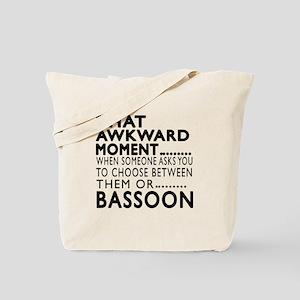Bassoon Awkward Moment Designs Tote Bag