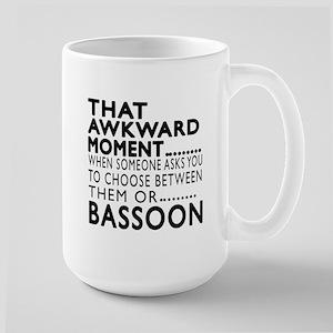 Bassoon Awkward Moment Designs Large Mug