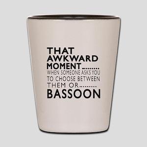 Bassoon Awkward Moment Designs Shot Glass